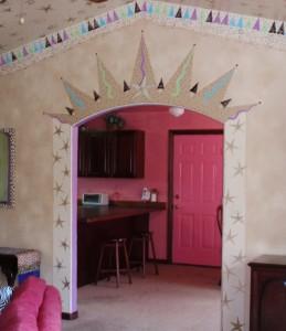 handpainted archway by Lynda Makara