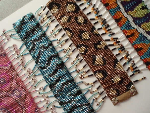 beaded cuff bracelets from my original designs