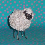 mini sheep sculpture