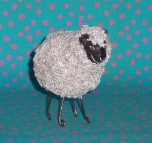 mini sheep sculpture