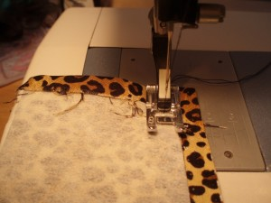Sewing the fabric cuff bracelet