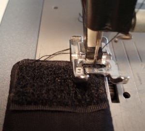 sewing velcro to fabric cuff bracelet
