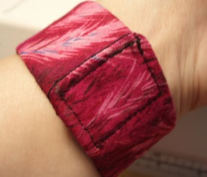 fabric cuff bracelet with velcro