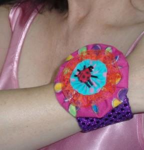 ladybug yo yo flower bracelet
