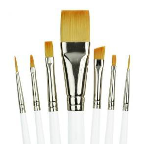 soft craft paint brushes