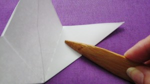 folding the 5 pointed paper star