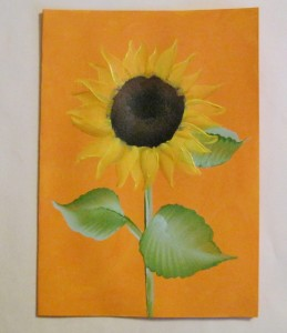 painting more sunflower petals