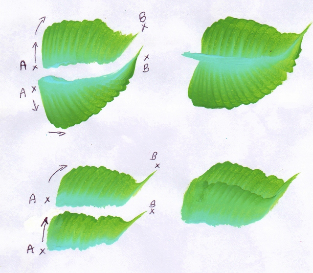 sunflower leaf painting worksheet