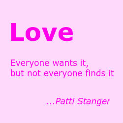 patti stanger love quote