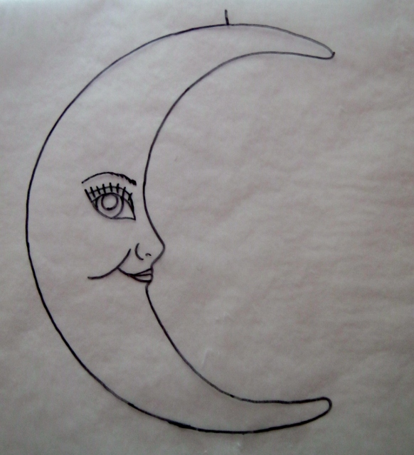 sketch of Muse in the Moon by Lynda Makara