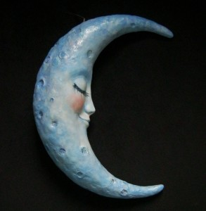 finished moon sculpture