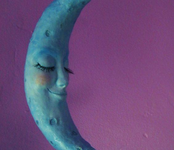 lady moon art sculpture