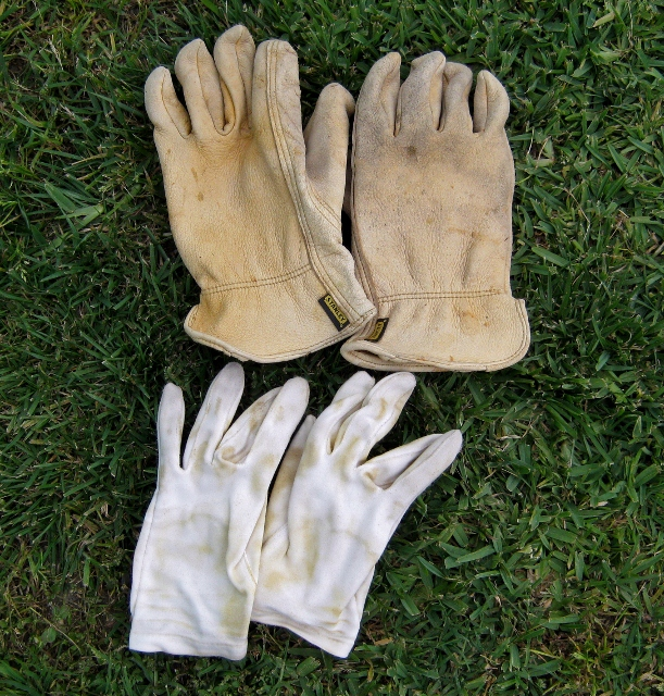 wear two pairs of gloves to prevent blisters