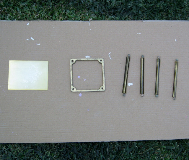 disassembled porch light