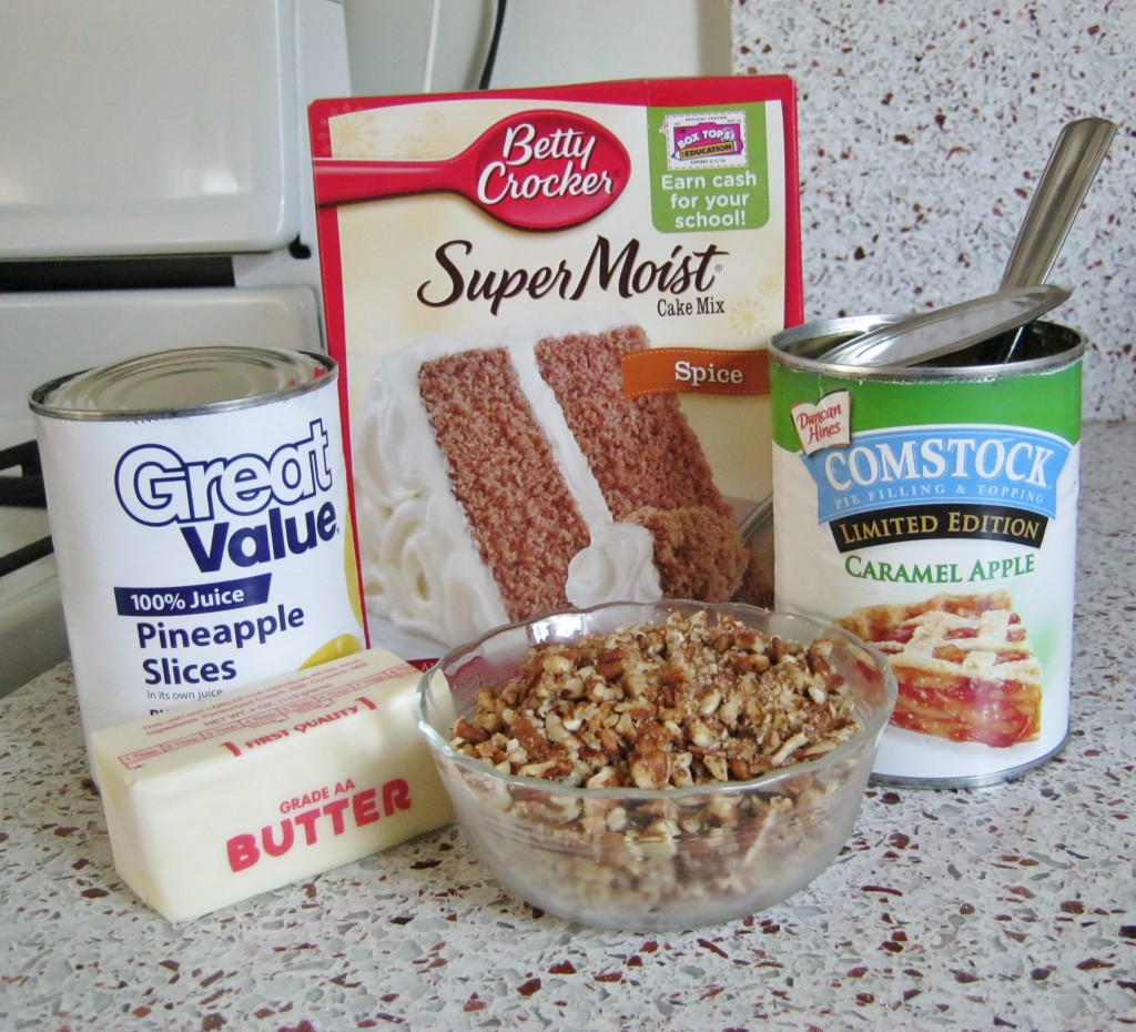 caramel apple dump cake ingredients