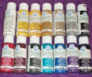 enamel paint collection