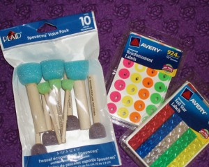 office supplies for glass painting