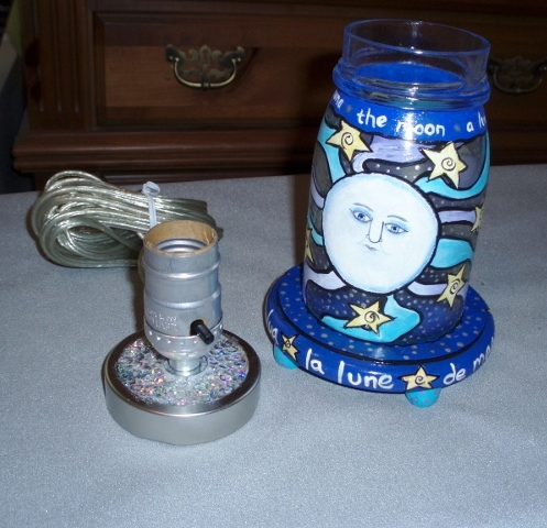 assembling mason jar lamp