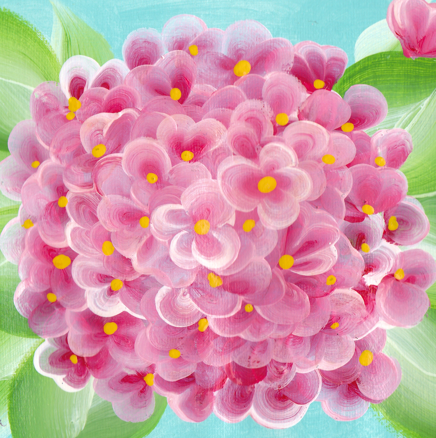 Painting hydrangeas with one stroke lynda makara for How to paint simple watercolor flowers