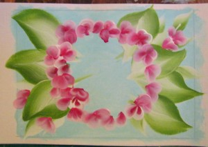 painting hydrangea petals