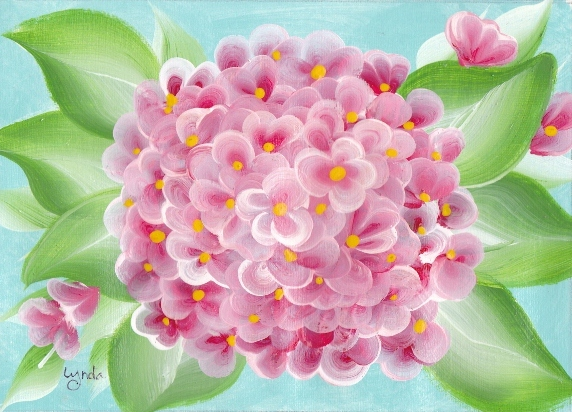 Painting Hydrangeas With One Stroke