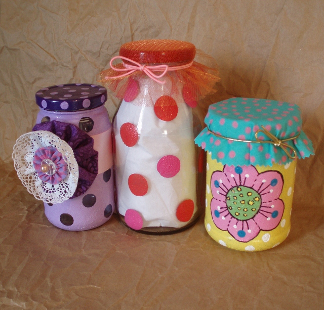 Simple glass painting ideas for recycled jars lynda makara for Easy recycling ideas