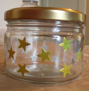 star stickers on jar
