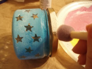 painting jar lid