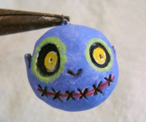 painting zombie girl ornament