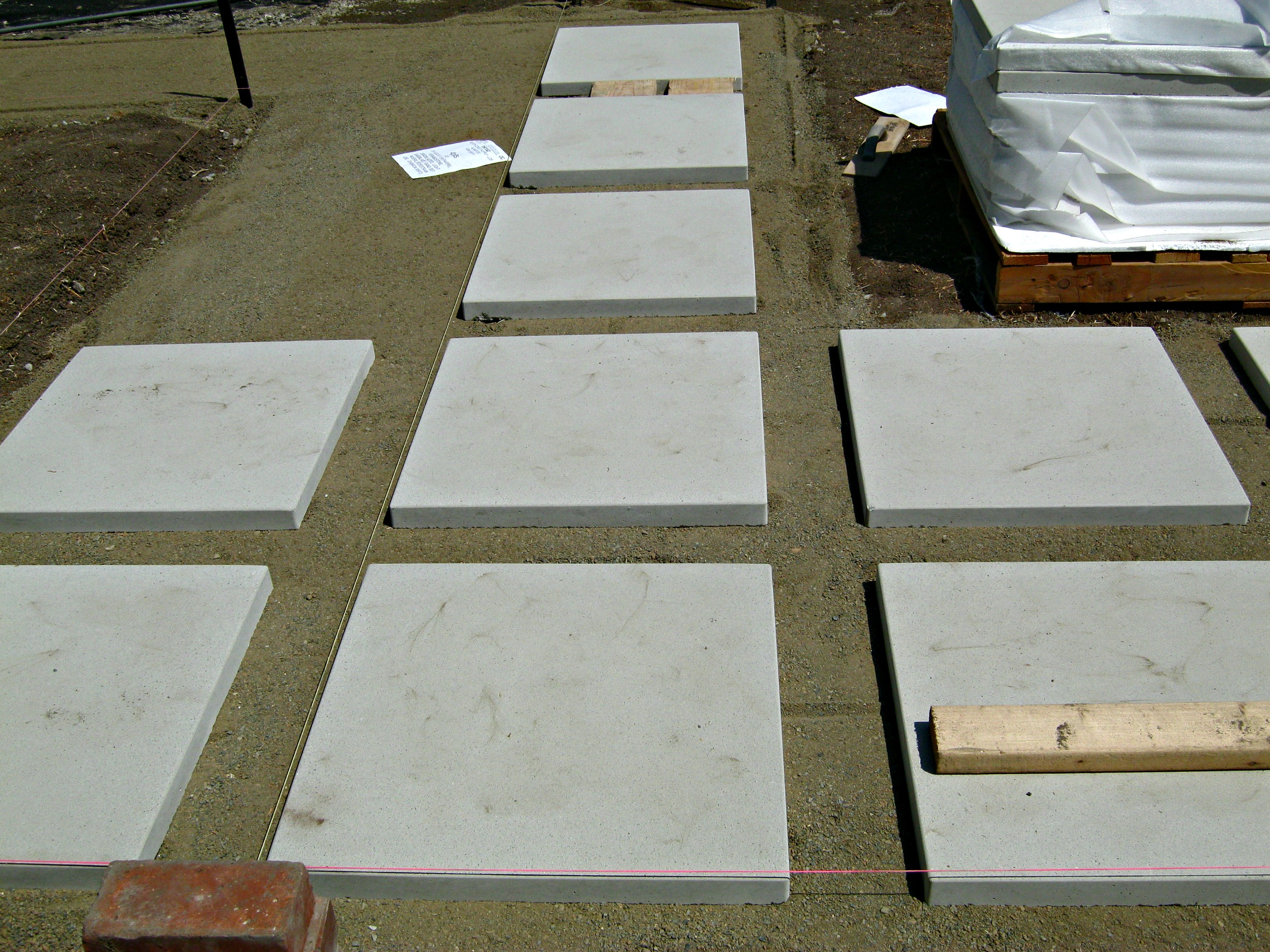 "How to install 24"" concrete pavers"