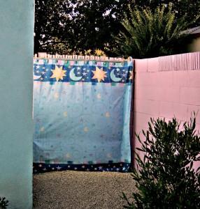 fabric privacy screen