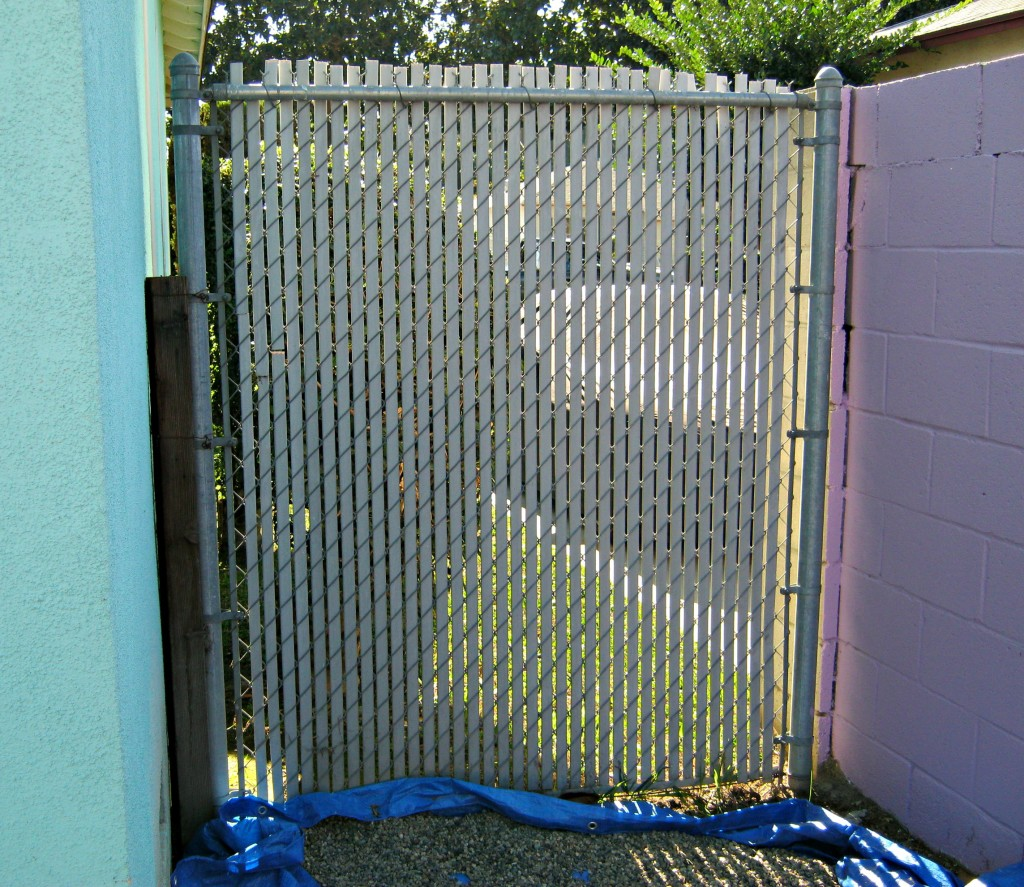 before privacy screen