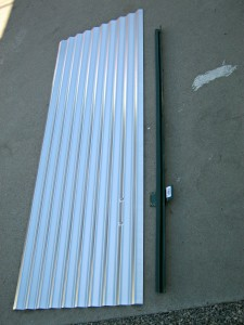 Corrugated roof panel and fence post