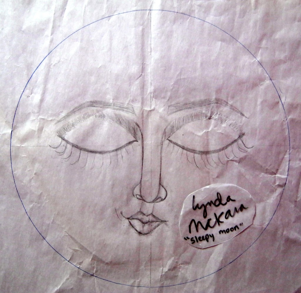paperclay moon sketch