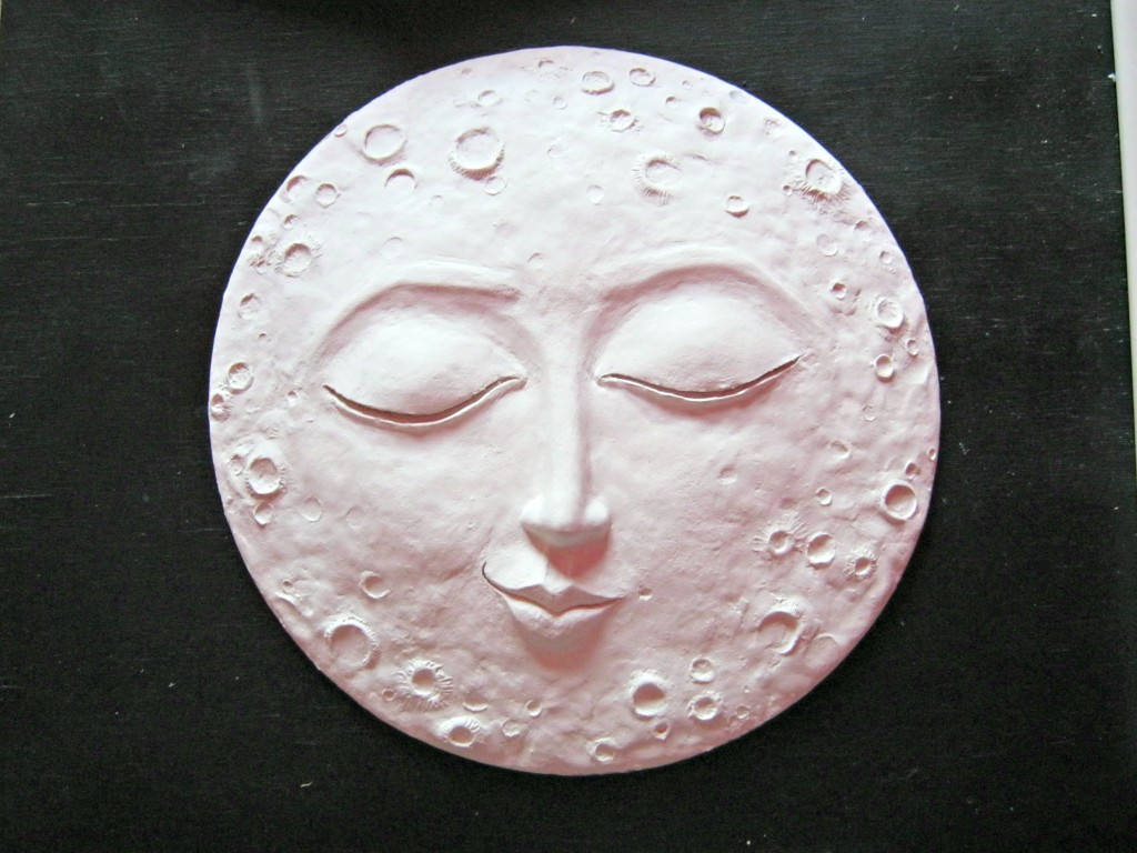 Paperclay moon before painting