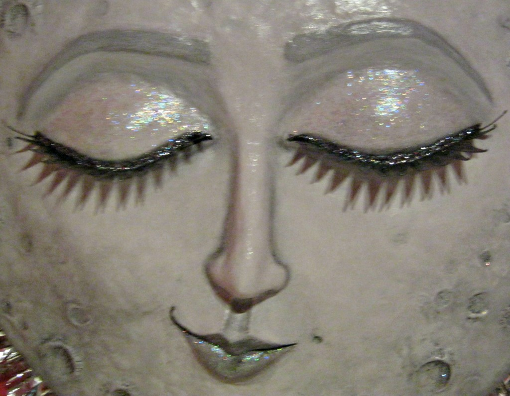 paperclay moon closeup