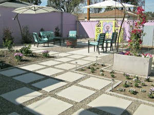 concrete backyard makeover