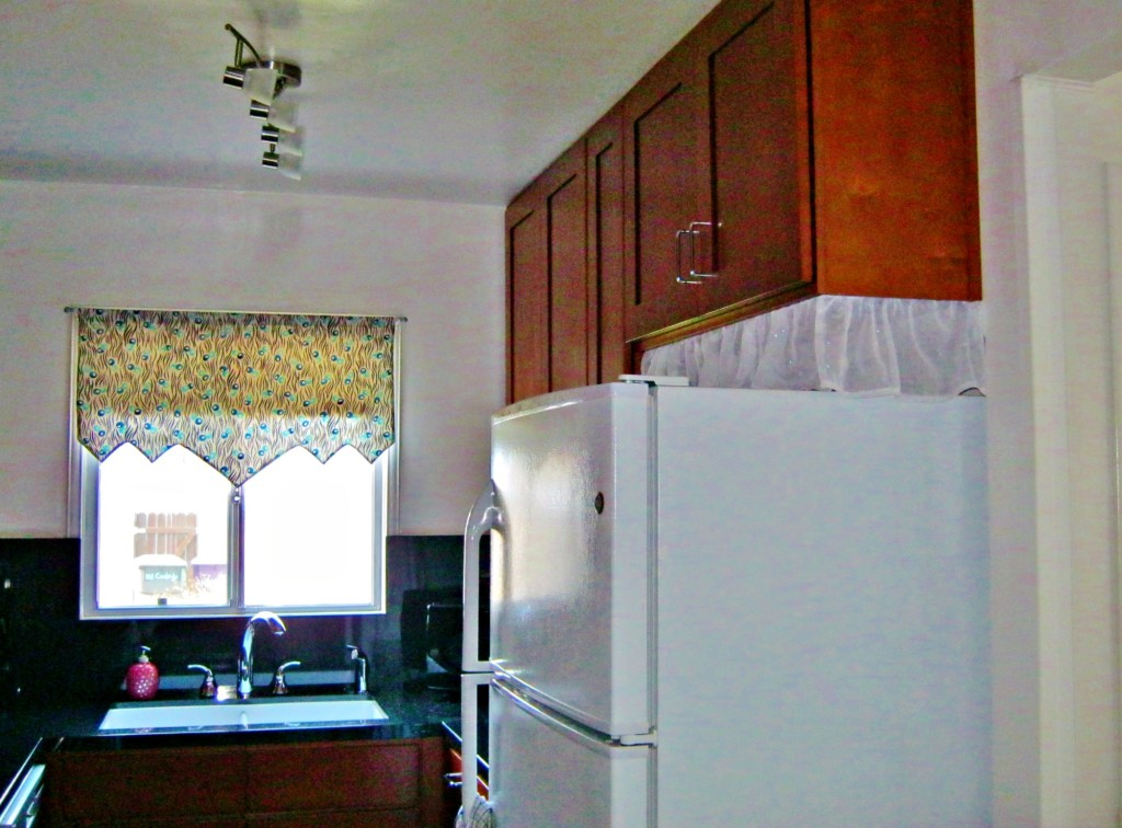 galley kitchen upgrade refrigerator