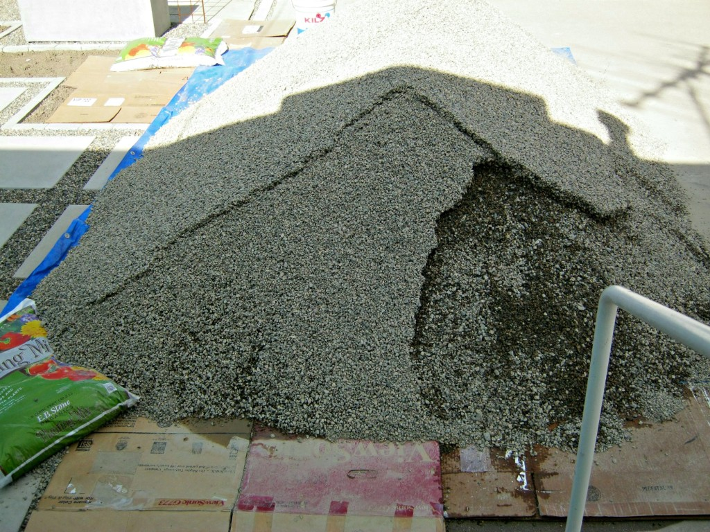 A mountain of gravel in my driveway