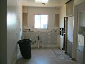 demoed kitchen