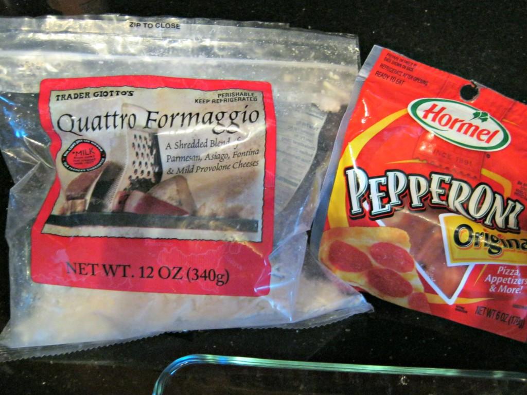 quattro formaggio and pepperoni