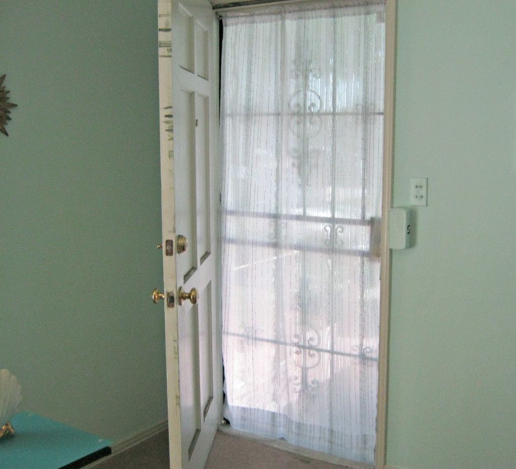 Front door curtain for privacy