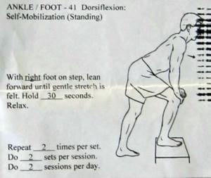 Standing dorsiflexion