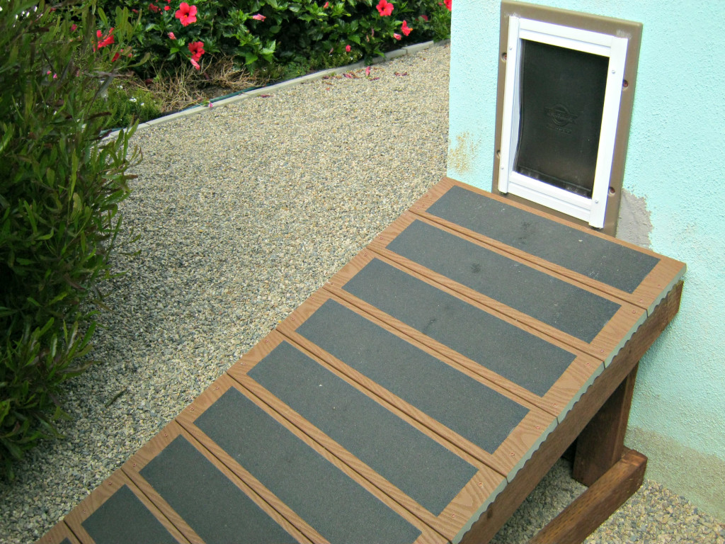 PetSafe wall entry pet door and custom made ramp