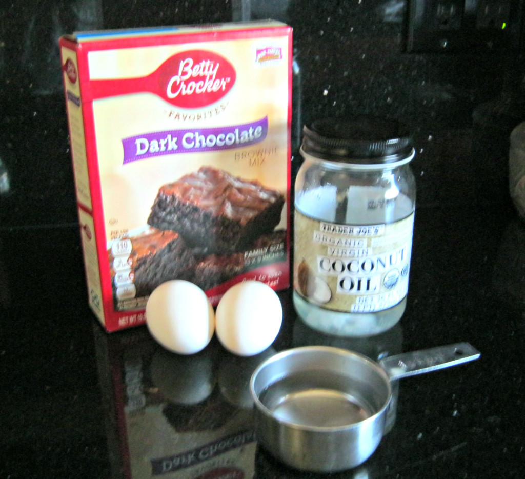 ingredients for fudge brownies
