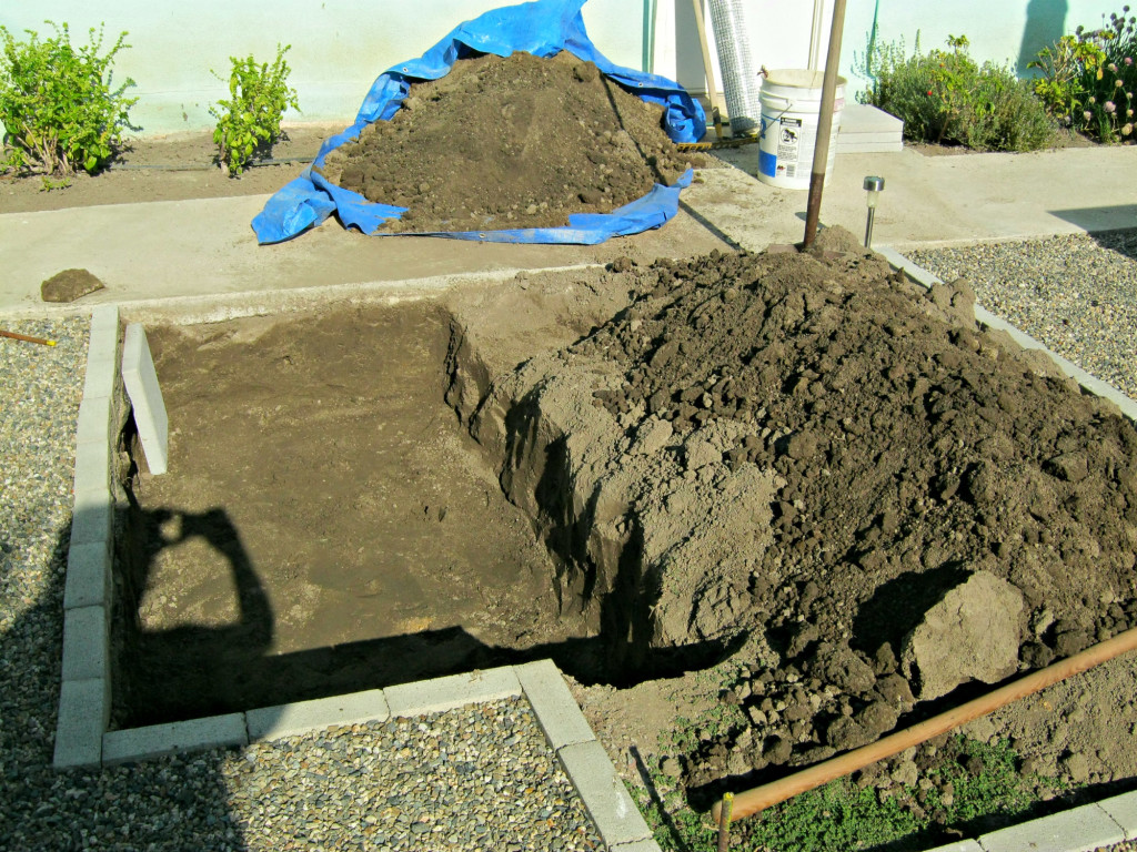 """First section dug out of garden about 14"""" deep"""