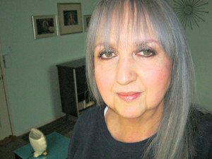 me with gray hair