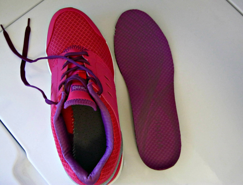 Vionic shoe with footbed removed