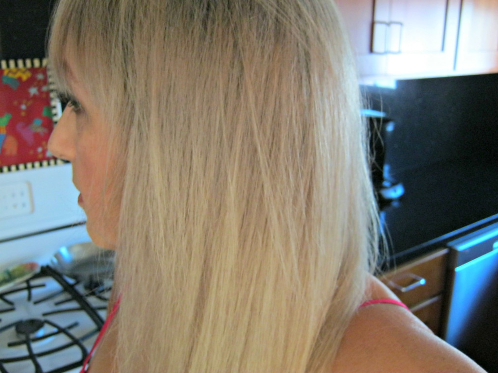 Side view before Oway bleach