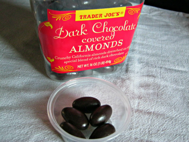 TJ's choc covered almonds